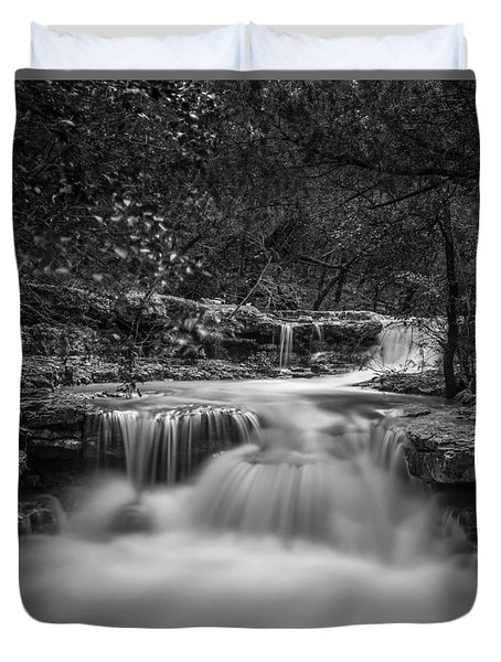 Waterfall In Austin Texas - Square Duvet Cover