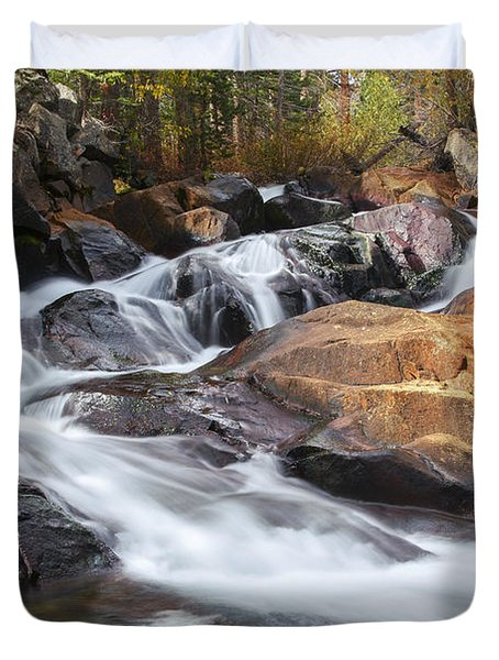 Waterfall In Lee Vining Canyon 2 Duvet Cover
