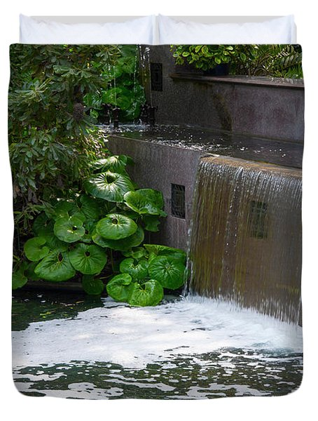 Waterfall - Longwood Gardens Duvet Cover
