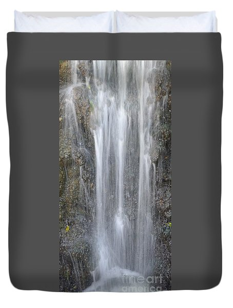 Duvet Cover featuring the photograph Waterfall  by Nora Boghossian