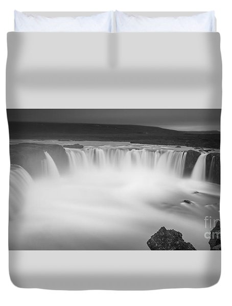 Waterfall Of The Gods Iceland Duvet Cover
