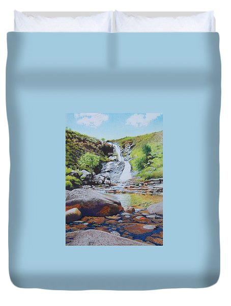 Waterfall On Skye 2 Duvet Cover