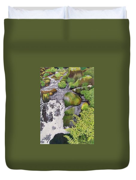 Waterfall On Skye Duvet Cover
