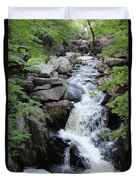 Waterfall Pillsbury State Park Duvet Cover