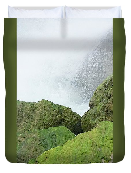 Duvet Cover featuring the photograph Waterfall by Raymond Earley