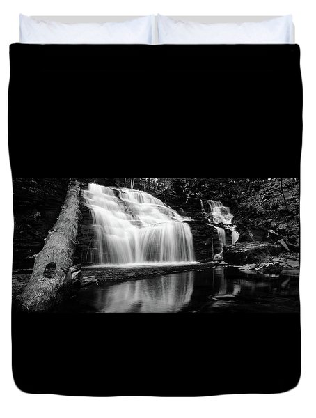 Waterfall Reflection Duvet Cover