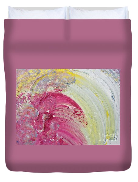 Waterfall In Pink Duvet Cover