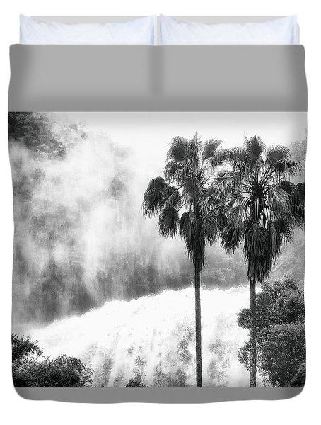 Waterfall Sounds Duvet Cover by Hayato Matsumoto