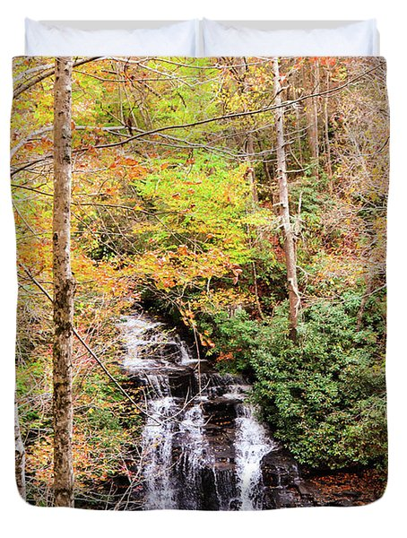 Waterfall Waters Duvet Cover