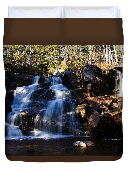 Waterfall, Whitewall Brook Duvet Cover