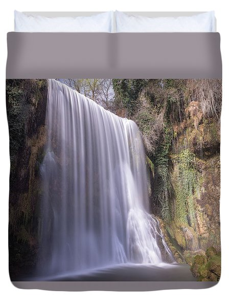 Waterfall With The Silk Effect Duvet Cover