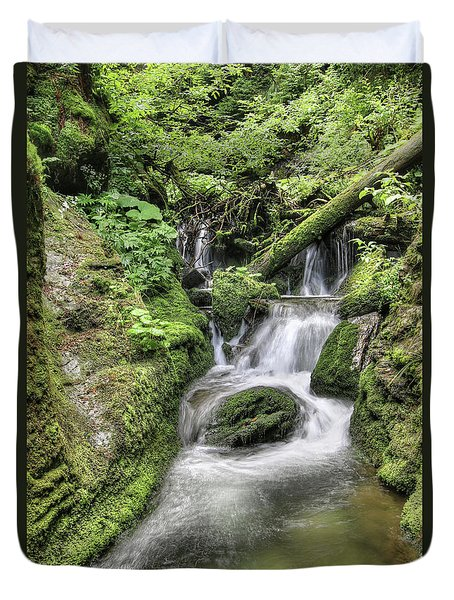 Duvet Cover featuring the photograph Waterfalls And Rapids On The White Opava Stream by Michal Boubin