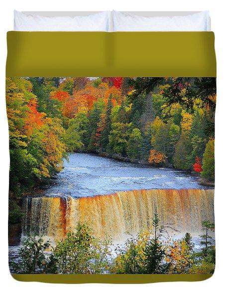 Waterfalls Of Michigan Duvet Cover by Michael Rucker