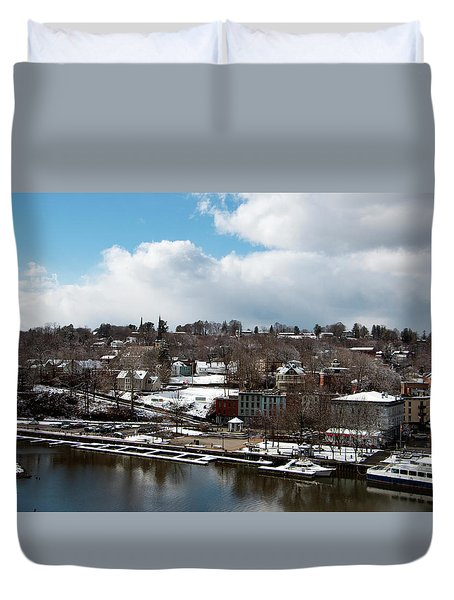 Waterfront After The Storm Duvet Cover by Jeff Severson