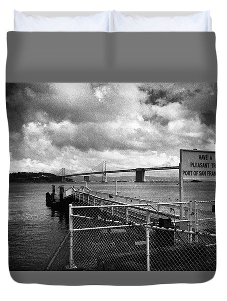 Waterfront San Francisco Duvet Cover