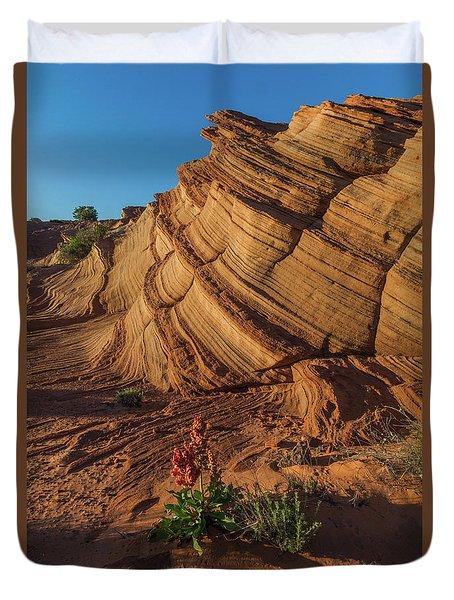 Waterhole Canyon Evening Solitude Duvet Cover