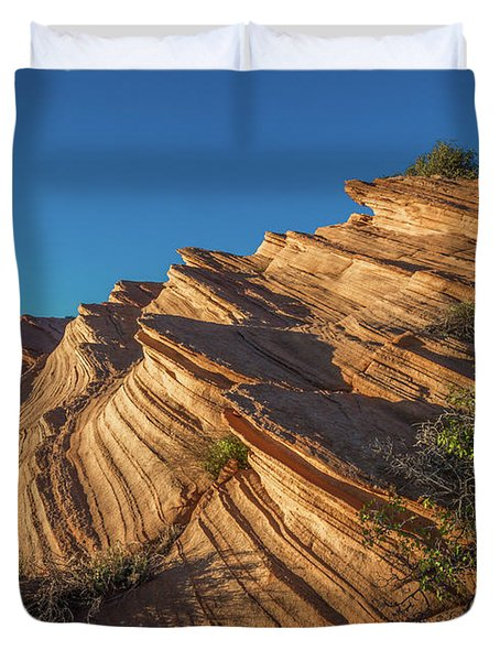 Waterhole Canyon Rock Formation Duvet Cover