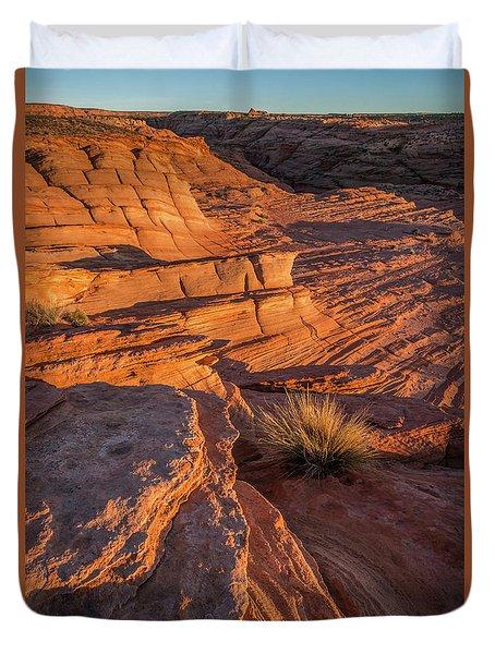 Waterhole Canyon Sunset Vista Duvet Cover
