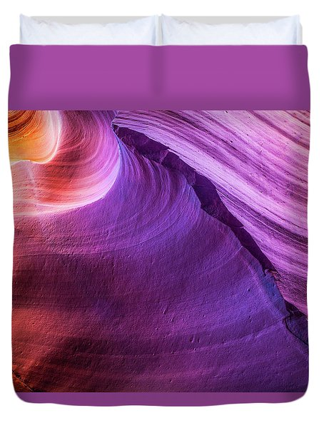 Waterhole Canyon Wave Duvet Cover
