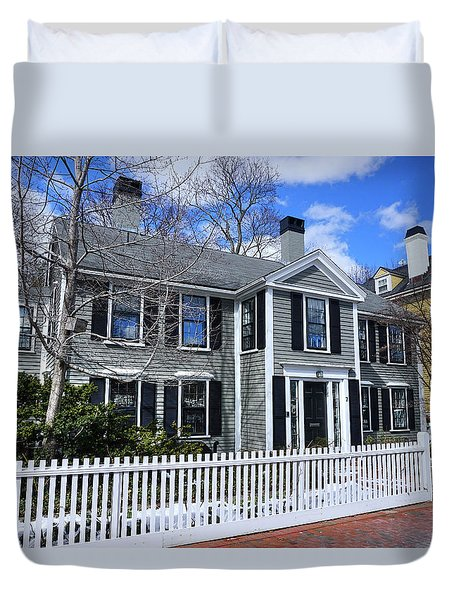 Duvet Cover featuring the photograph Waterhouse House In Cambridge by Wayne Marshall Chase