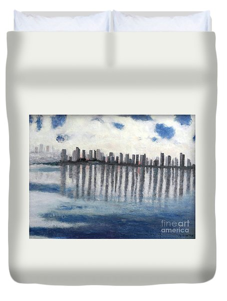Water,ice,snow And More Duvet Cover