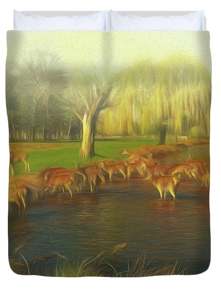 Watering Hole Duvet Cover
