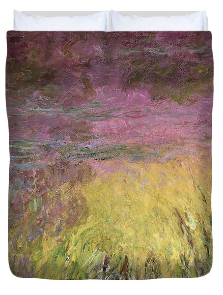 Waterlilies At Sunset Duvet Cover by Claude Monet