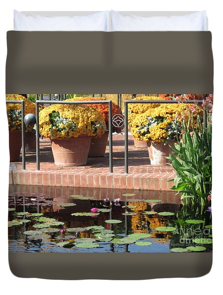 Waterlilies Duvet Cover by Kathie Chicoine