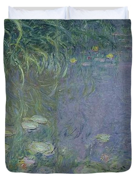 Waterlilies Morning Duvet Cover