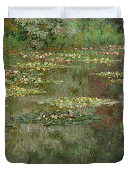 Waterlilies Or The Water Lily Pond Duvet Cover