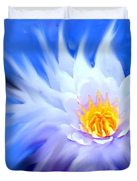 Waterlillies Transformed Duvet Cover by Ian  MacDonald