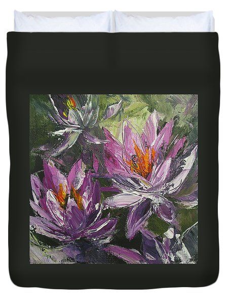 Waterlilly Duvet Cover by Chris Hobel