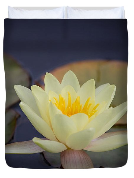 Duvet Cover featuring the photograph Waterlily by Clare Bambers
