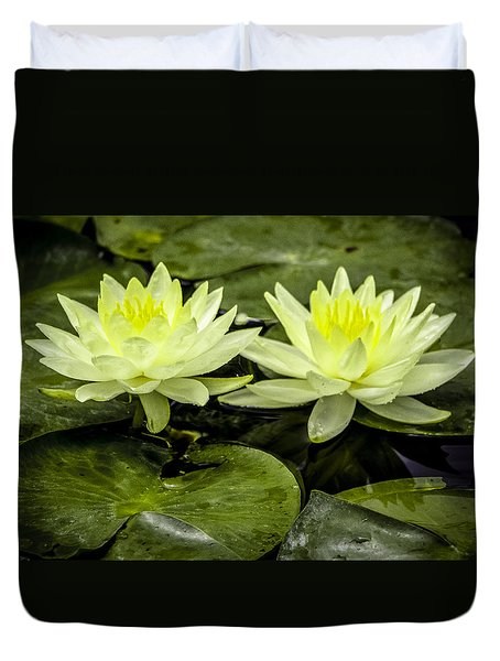 Waterlily Duet Duvet Cover