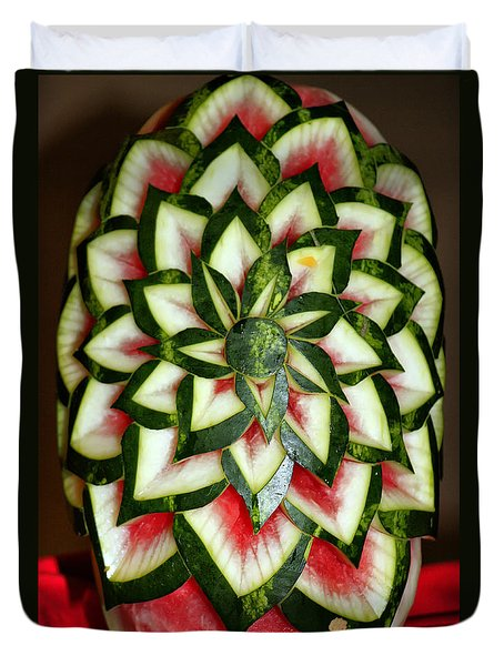 Watermelon Art Duvet Cover
