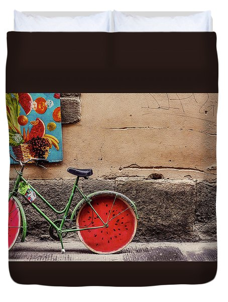 Watermelon Wheels Duvet Cover