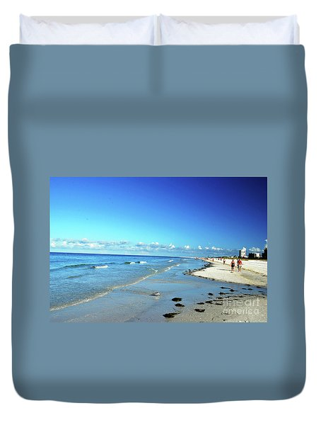 Duvet Cover featuring the photograph Water's Edge by Gary Wonning