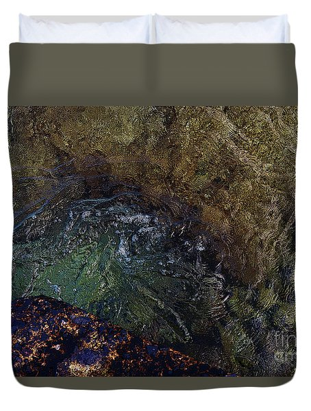 Water's Flow Duvet Cover by Craig Wood