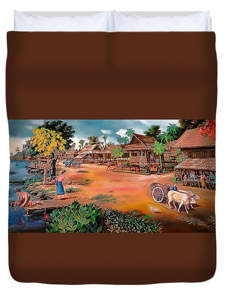 Waterside Town Community Duvet Cover