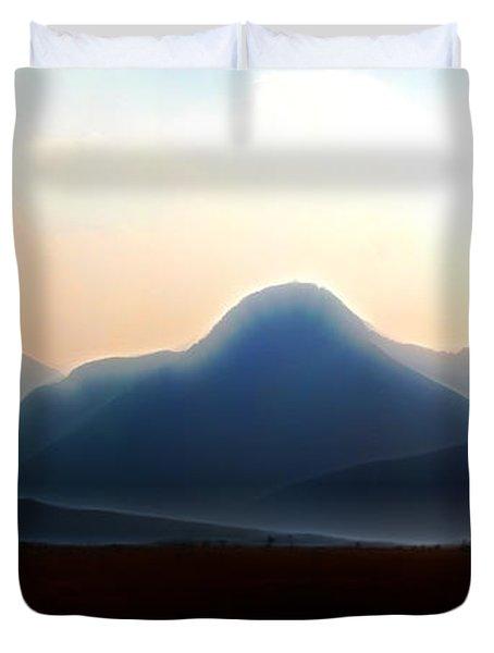 Waterton - Mountain Panorama Duvet Cover by Stuart Turnbull