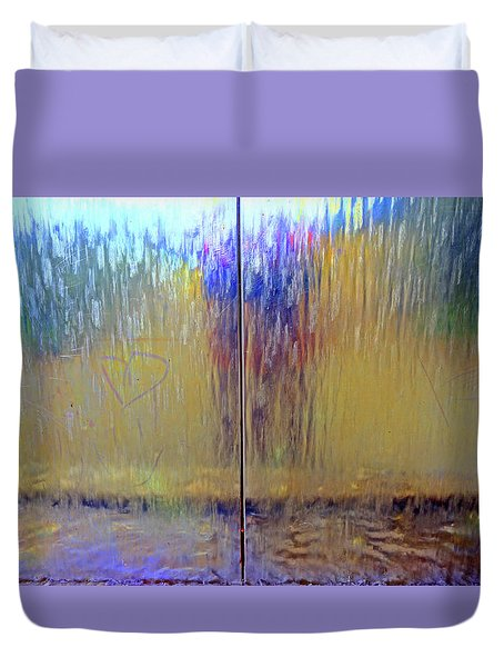 Duvet Cover featuring the photograph Watery Rainbow Abstract by Nareeta Martin