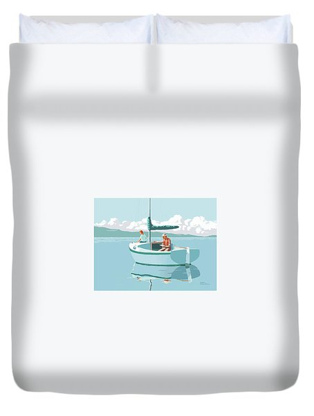 Wating For The Wind Duvet Cover