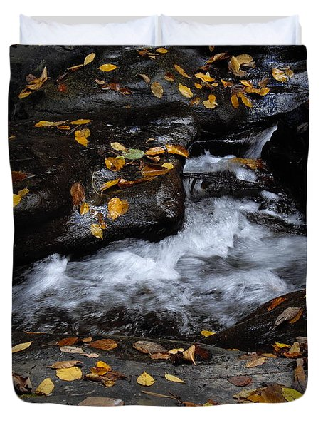 Duvet Cover featuring the photograph Watkins Glen 1 by Vilas Malankar