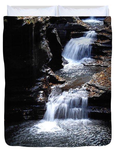 Duvet Cover featuring the photograph Watkins Glen 3 by Vilas Malankar