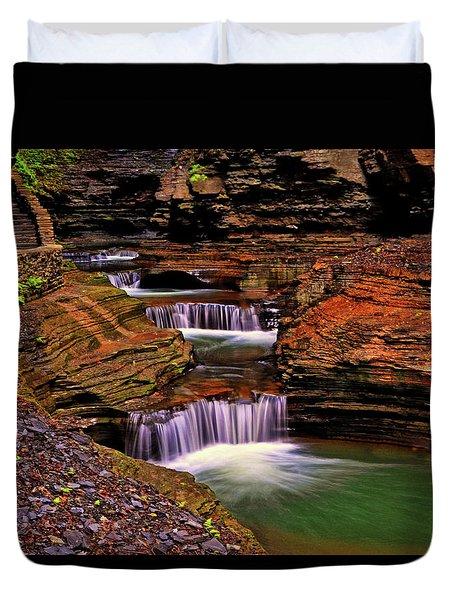 Watkins Glen State Park 014 Duvet Cover