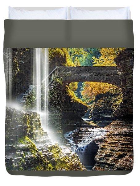 Watkins Glen State Park Duvet Cover