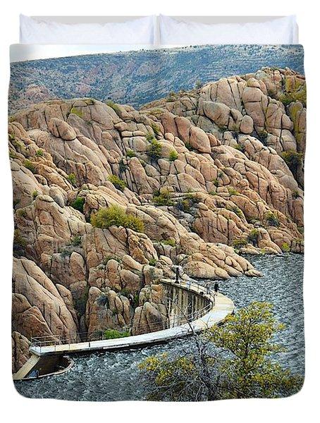 Watson Lake Dam Duvet Cover