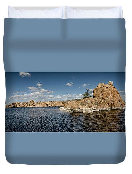 Watson Lake Panorama Duvet Cover