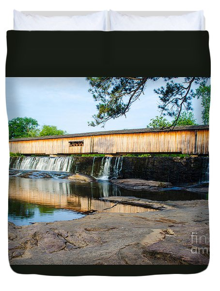 Watson Mill Bridge State Park Duvet Cover by Donna Brown