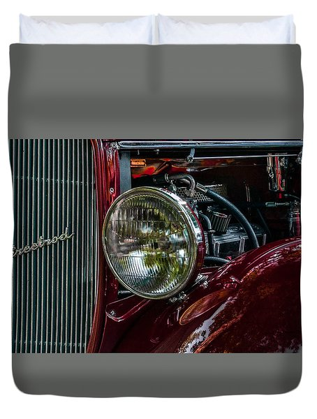 Duvet Cover featuring the photograph Waupaca Streetrod by Trey Foerster